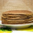 Pancakes on a plate — Stock Photo #1411647