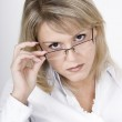 The strict blonde in glasses — Stock Photo #1478809