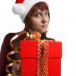 The girl submits a gift — Stock Photo #1488764