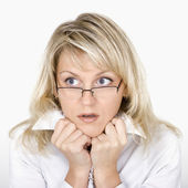 The scared business woman — Stock Photo