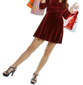 The woman with purchases — Stock Photo