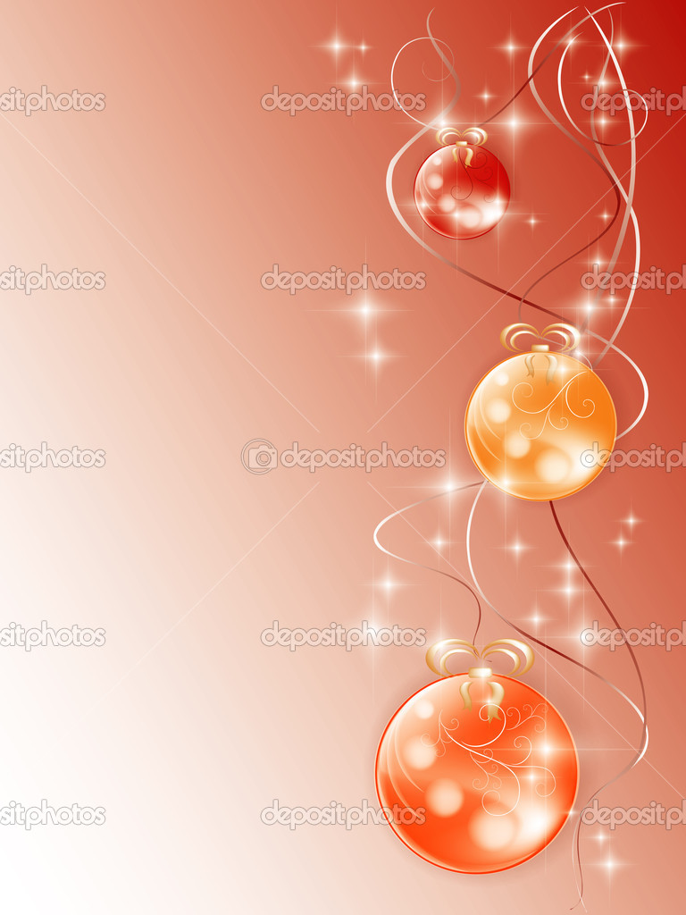 New Year's card with Christmas-tree decorations — Stock Photo #1744331