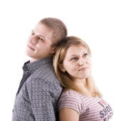 Young man and the woman — Stock Photo