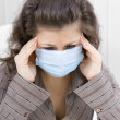 The sick girl with medical mask — Stock Photo #2496674