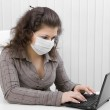 The young woman in medical mask — Stock Photo #2530471