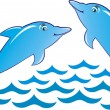 Royalty-Free Stock Vector Image: Dolphin vector illustration