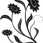 Floral design elements illustration — Stock Vector #1371344
