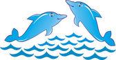 Ilustración de vector de delfín — Vector de stock
