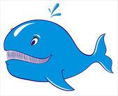 Whale blue vector — Stock Vector