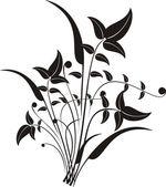 Floral design elements illustration — Stock Vector