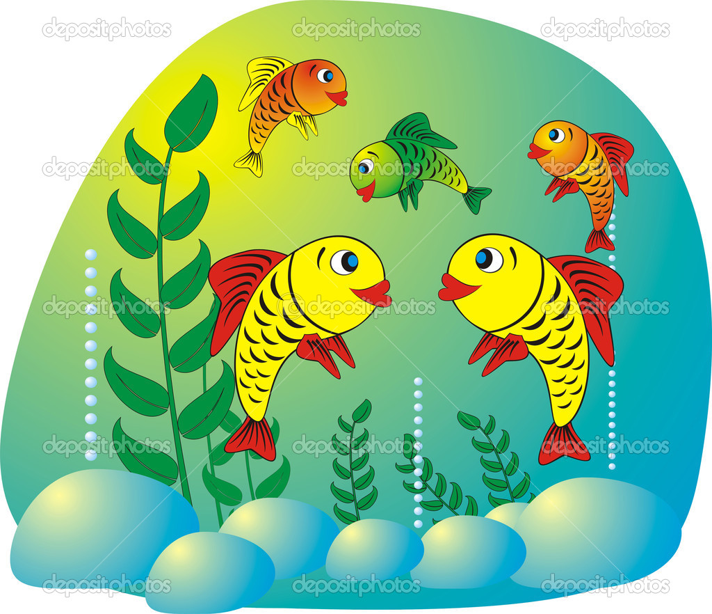 Illustration of a cartoon fish — Stock Vector #1371221