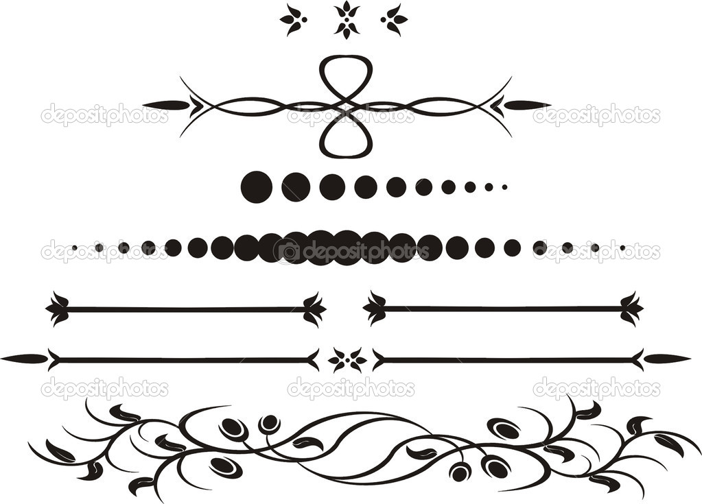 Decorative elements, designs vector — Stock Vector #1371227