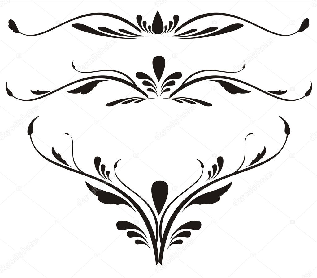 Decorative elements, designs vector — Stock Vector #1371324
