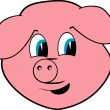 Cheerful pig — Stock Vector #1419560