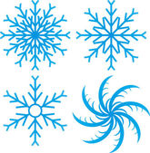 Vector set of snowflakes illustration — Stock Vector