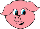 Cheerful pig — Stock Vector