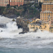 Sea storm in Camogli — Foto Stock