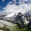Marmolada  summer snow — Stock Photo