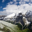 Marmolada  summer snow - Stock Photo
