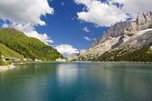 Lago di fedaia — Foto Stock