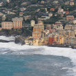 Camogli during a storm — Stock Photo