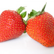 Two strawberries - Stock Photo