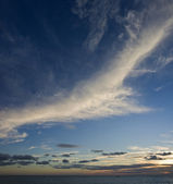 Cirrus at sunset — Stock Photo
