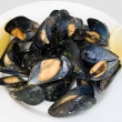 Plate with mussels - Stock Photo