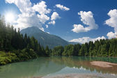 Soraga Lake — Stock Photo