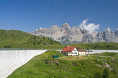 Dam in Italian alps — Stock Photo