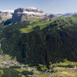 Val di Fassa panorama — Stock Photo