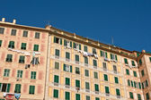 Painted homes in Camogli — Stock Photo