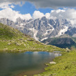 Lusia Lake and Pale San Martino mount — Stock Photo