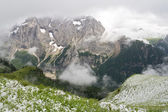 Dolomiti firt snow — Stock Photo