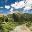 Avisio river, val di Fassa — Stock Photo