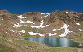 Lago delle marmotte, panorama — Stock Photo