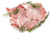 Pork steaks with rosemary — Stock Photo