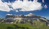 Sella mountains with Piz bo — Stock Photo