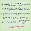 Mathematical formulas - Foto Stock