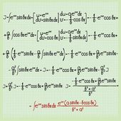 Mathematical formulas — Stockfoto