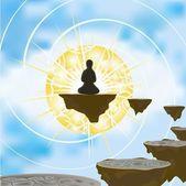 Meditatie — Stockvector