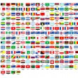 257 world flags complete collection - Stock Photo
