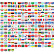 257 world flags complete collection — Stockfoto