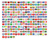 257 world flags complete collection — Stock Photo