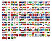 257 bandeiras do mundo coleção completa — Fotografia Stock