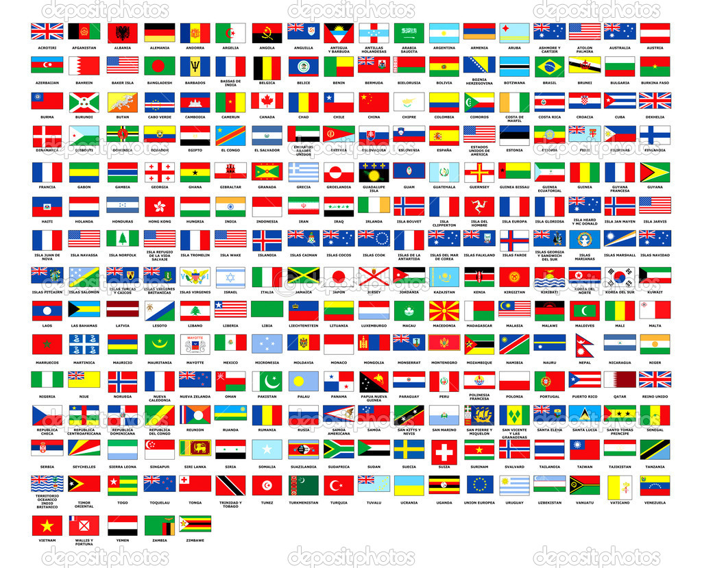 Complete world flags alphabetically 2010 — Stock Photo #1344862