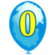 Balloon number zero — Stock Vector
