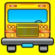 Front view of scholar bus — Vector de stock #1369006