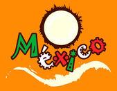 Mexican coconut — Stock Vector