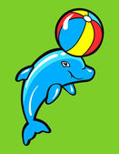 Baby dolphin — Stock Vector